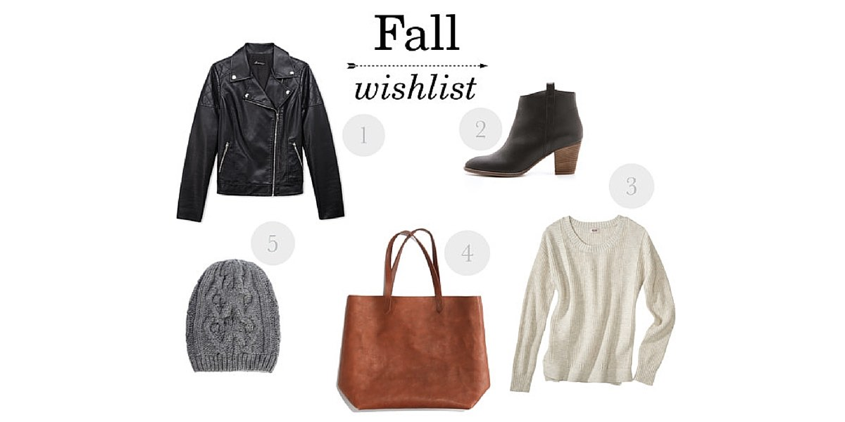 Fall is here and I'm loving these cozy, cute styles! Check out my fall wishlist and tell me what you're hoping to add to your wardrobe this season!