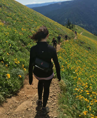 Hiking with the Chrome Victor Utility Bag