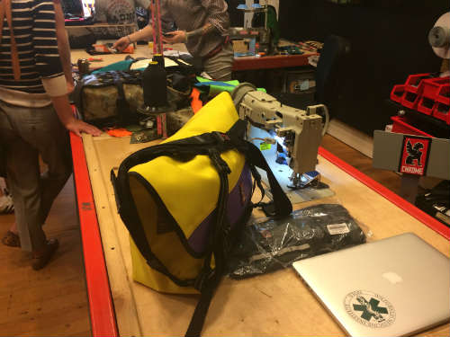 Chrome Bags made in-house at the Portland Hub