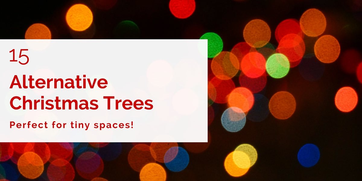 I love Christmas trees, but making room for one can be a challenge in a small space. These Christmas tree alternatives are the perfect solution!