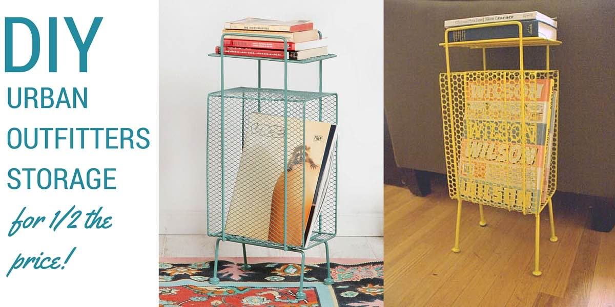 My apartment is tiny, but this shelf is the perfect size! See how I DIYed a vintage telephone table for 1/2 the price of Urban Outfitters Mini Storage Rack!