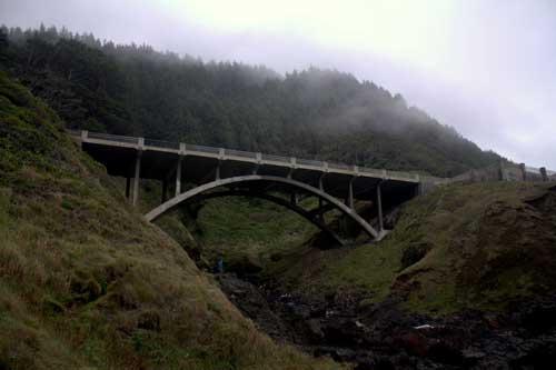 Oregon Coast Camping - Cape Perpetua - Bridge